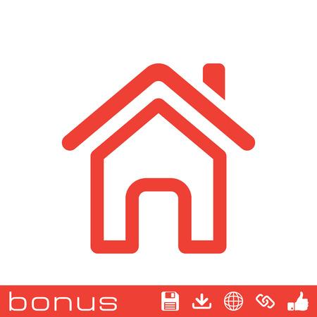 Outline page d'accueil icône Vecteurs