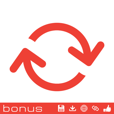 in the loop: arrows loop icon Illustration