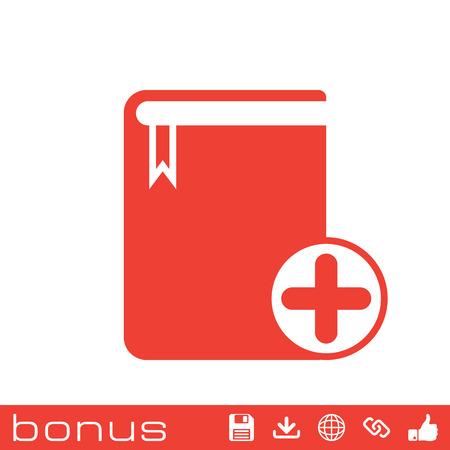 electronic publishing: add book icon
