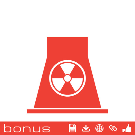 nuclear power: nuclear Power Plant icon Illustration