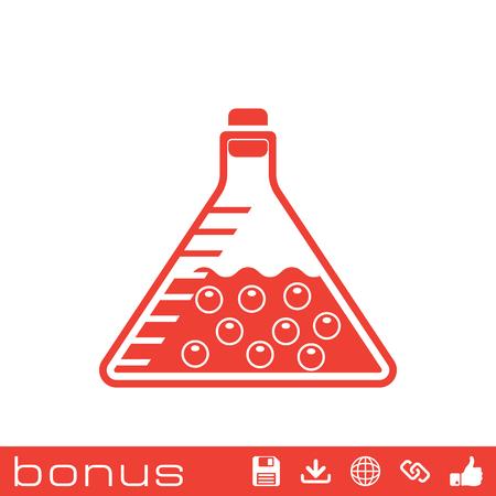 hipotesis: icono de tubo de ensayo Vectores