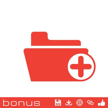 folder icon: add folder icon Illustration