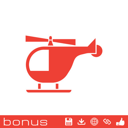 fuselage: helicopter sign icon Illustration