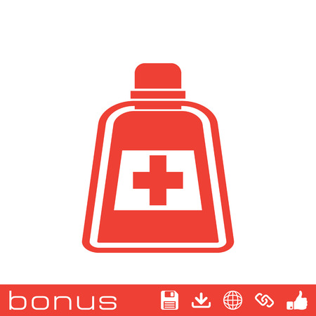 group therapy: medicine bottle icon Illustration