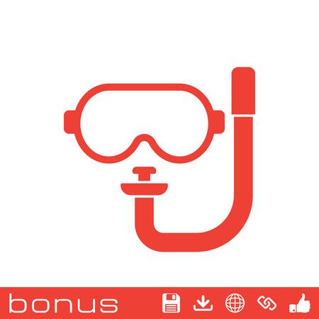 dive: dive mask icon Illustration