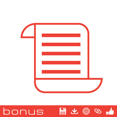 scroll: scroll list icon