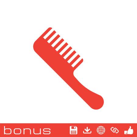 haircutting: barber comb icon