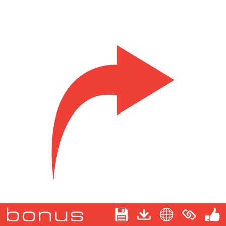 tornitura: freccia moderno girando a destra Vettoriali
