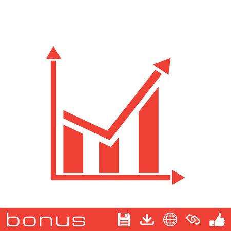 demography: chart icon Illustration
