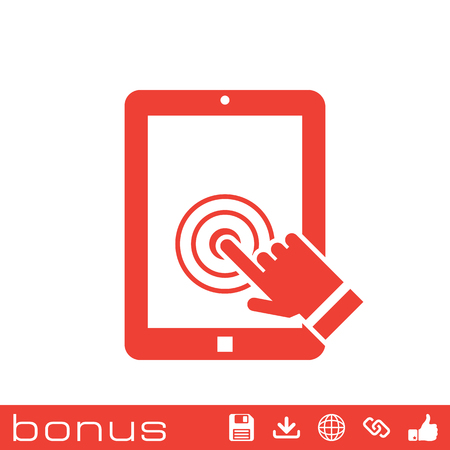 multitouch: tablet touch screen icon Illustration