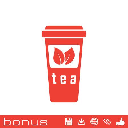 takeout: Take-out teacup icon