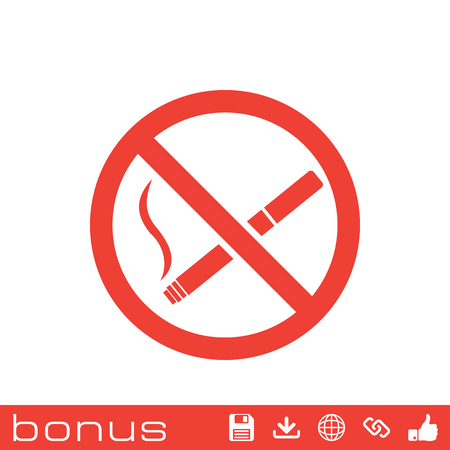 pernicious habit: No smoking sign icon