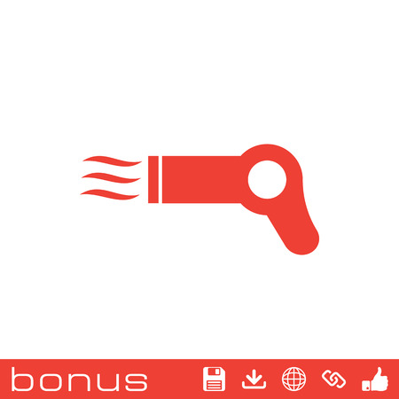 blow drying: Hairdryer sign icon