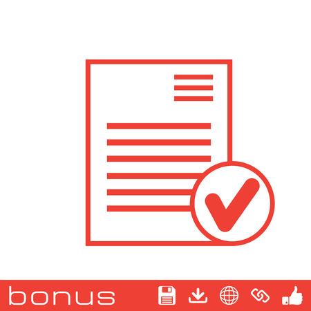 accepted: select document icon Illustration