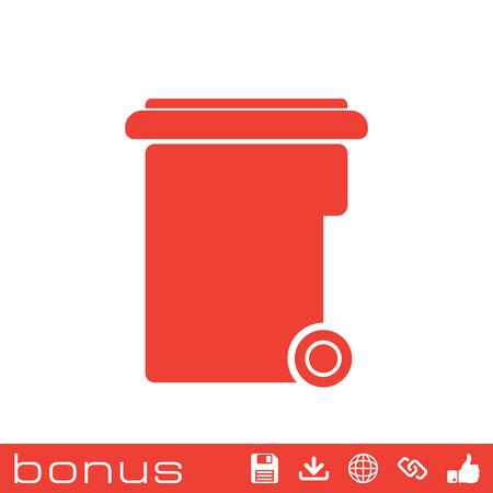 trashing: garbage icon