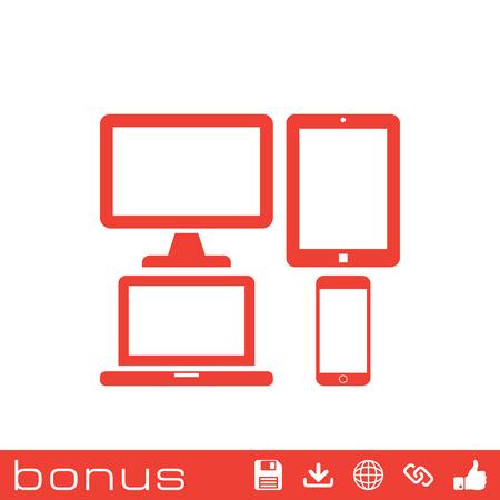 responsive web design: responsive web design icon Illustration
