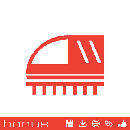 the hovercraft: train sign icon