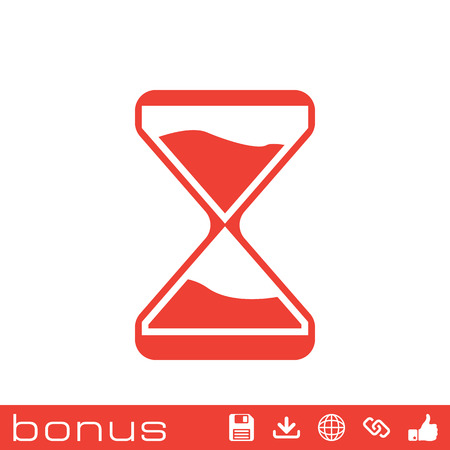 analog dial: clock glass icon