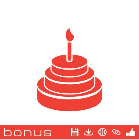 porcion de pastel: Icono de pastel de cumpleaños