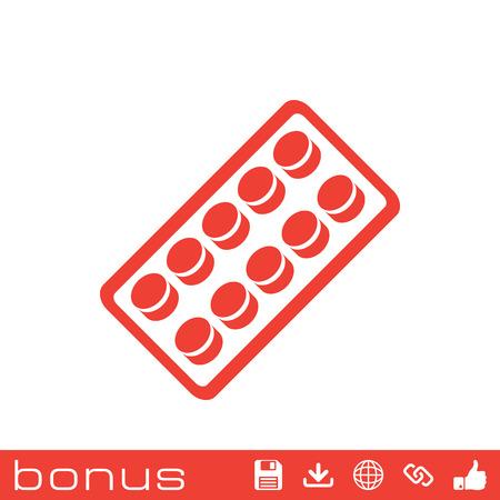 pilule: pastillas blister pack de iconos