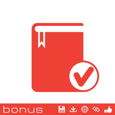 electronic publishing: selected book icon Illustration