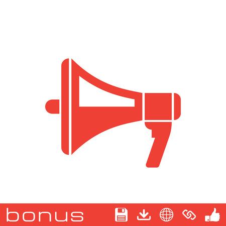 urgent announcement: megaphone icon