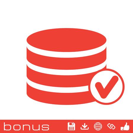 hardware tools: selected database icon Illustration