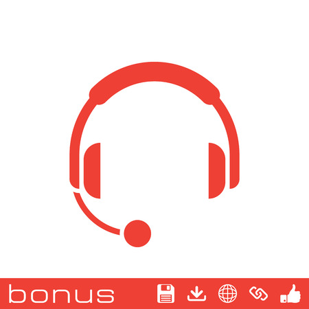 headphones with microphone icon 向量圖像