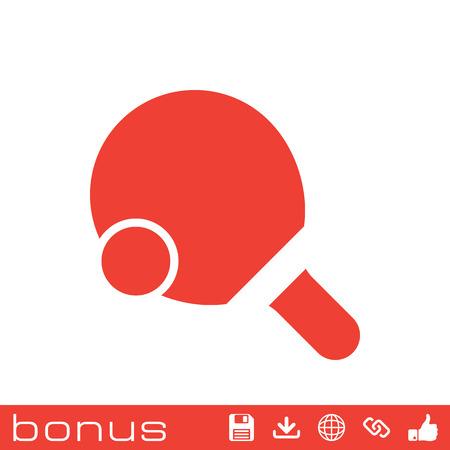 ping pong: Ping Pong icono de tenis de mesa Vectores