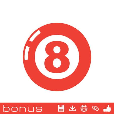 billiard ball: billiard ball  pool icon Illustration