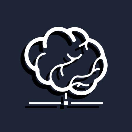 hardware configuration: smart database icon Illustration