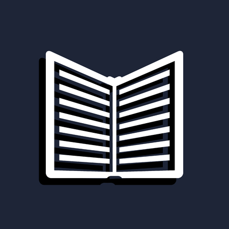 electronic publishing: open book icon Illustration