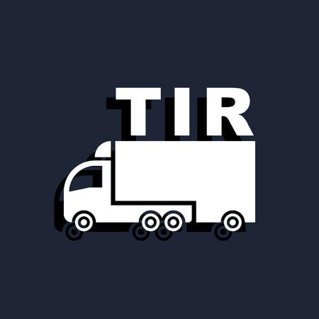 truck TIR icon Vettoriali