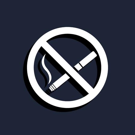 cigar shape: No smoking sign icon