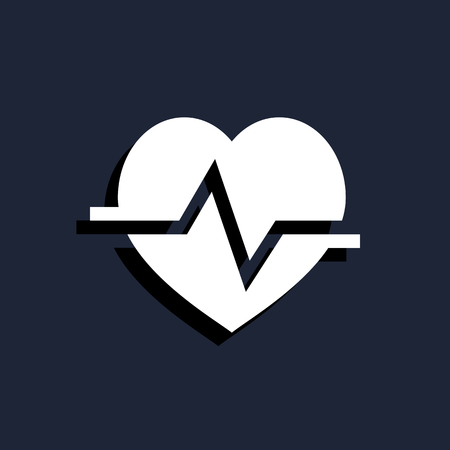 stress test: heart cardiology icon