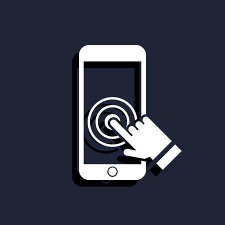 toque: Touch screen smartphone icon Ilustra��o