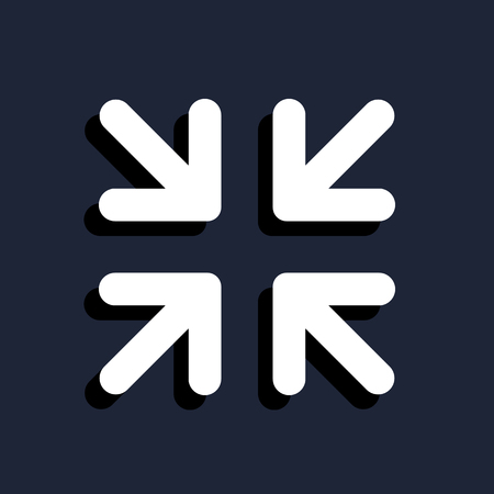 navigation pictogram: arrows change size icon Illustration