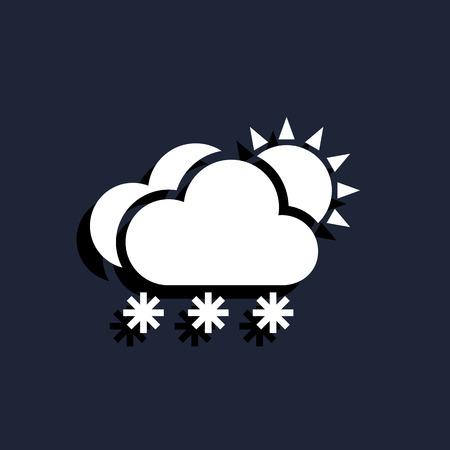 snow cloud sun meteo icon