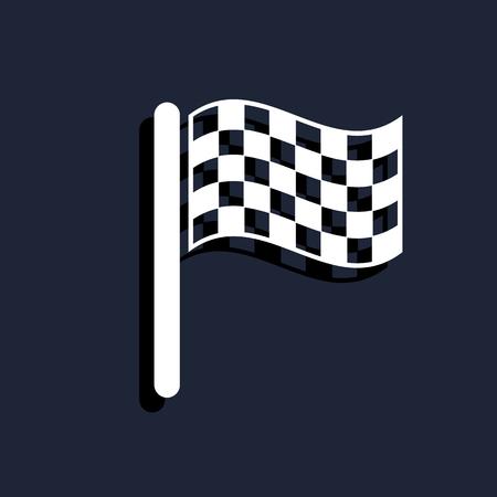 finish flag: start  finish flag icon Illustration