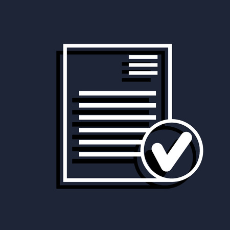 stack of files: select document icon Illustration