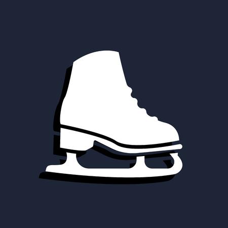 ice skate: Ice skate icon Illustration