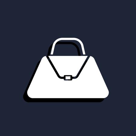 hand bag: hand bag icon Illustration