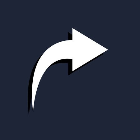 left arrow: modern arrow turning right Illustration