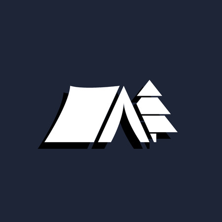 summer sign: camping tent icon