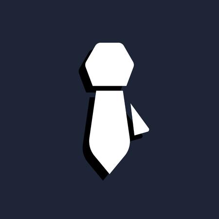 taylor: neck tie icon Illustration