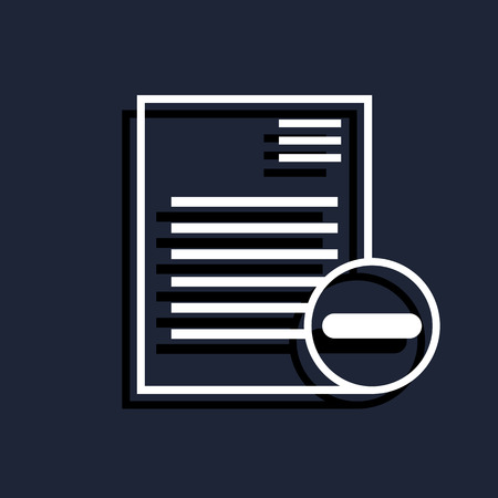 document icon: remove document icon