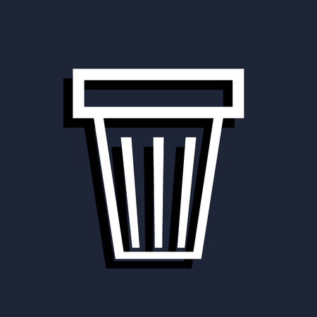 trash can: trash can icon