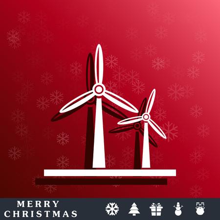 windmills: windmills energy icon Illustration