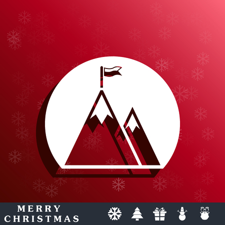 peak: Mountain peak with flag icon
