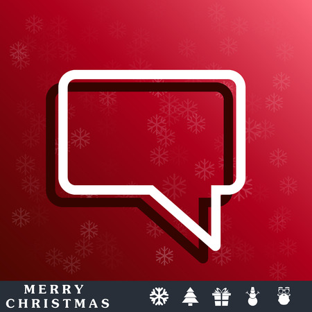 speech cloud: outline speech icon